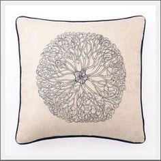 sea flower pillow