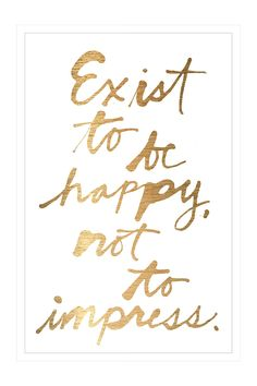 Exist to be Happy Mirror Wall Art//