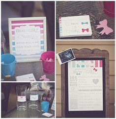 Gender Reveal baby shower #babyshower #genderreveal