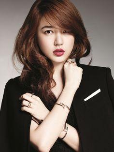Eun Hye | My ultimate favorite Korean actress among my other favorite korean actresses. LMAO. cartier, hair colors, red hair, yoon eun, long hair, red lips, eun hye, nike air max, light brown hair