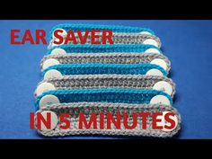 How to crochet EAR SAVER in just 5 MINUTES - YouTube