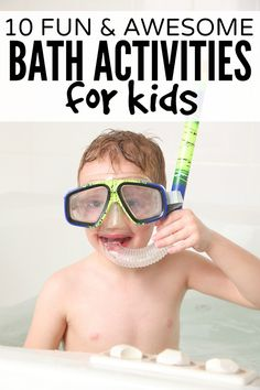 Whether your child is suffering from a case of the sniffles or cabin fever, or he just loves the water, this collection of 10 awesome bath activities for kids is just what you need to keep bathtime fun!