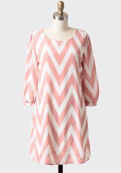 Chevron Print Shift Dress $39.99