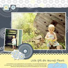 Little Girls are Heaven's Flowers Digital Scrapbook Layout from Creative Memories    http://www.creativememories.com
