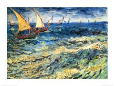 Seascape at Saintes-Maries, c.1888 Van Gogh