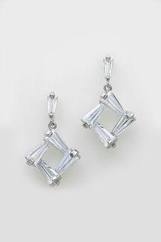 CZ Taylor Earrings in Silver