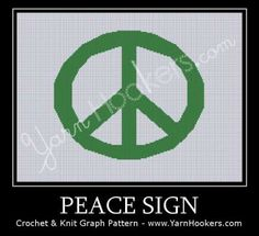 Peace Sign - Afghan Crochet Graph Pattern Chart - PDF Download by YarnHookers for $5.00 #zibbet