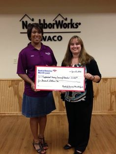 NeighborWorks Waco was awarded a $5,000 grant for their Homebuyer's Education Program!!! Thank you Bank of America!!!!