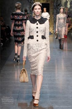 Dolce & Gabbana Fall/Winter 2012-2013 collection is Baroque Romanticism