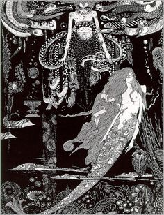 "Harry Clarke, ""The Little Mermaid"" one of my favourite illustrators and stories."