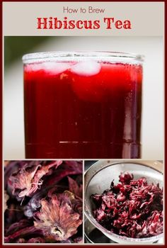 Hibiscus Tea – Brewed at Home From Dried Hibiscus Flowers - from Cupcake Project
