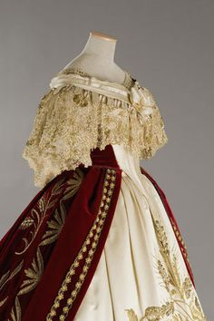 "Court dress in the movie L. Visconti's ""Ludwig"", 1865 reproduction"