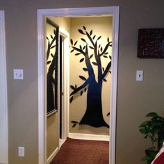 Recycle cardboard into art for the house