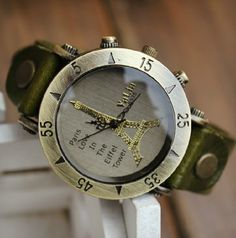 Eiffel Tower Vintage Watch  #luxurywatches, #watches, #luxury