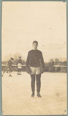 Unknown, American. [Maurice Field, School Friend of Walker Evans on Ice Skates, Loomis Institute, Windsor, Connecticut], 1920–21. The Metropolitan Museum of Art, New York. Walker Evans Archive, 1994 (1994.261.149) #olympics #iceskating