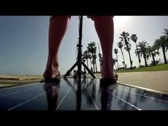 The Solar Electric Scooter uses a PV panel as its riding platform #FLVS #techcrazy