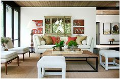 a living room by Carrier and Company - gorgeous!