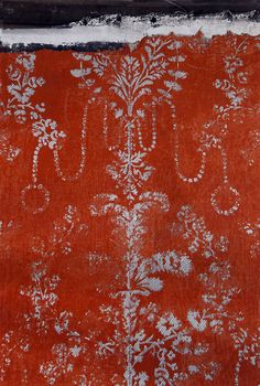 Hand-printed wallpaper, ca 1810