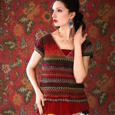 Noro Crochet V-Neck Top