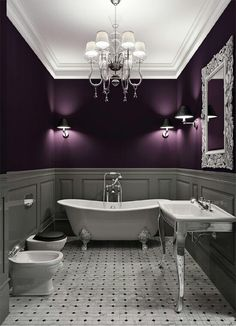 purple or eggplant is gorgeous on walls!!