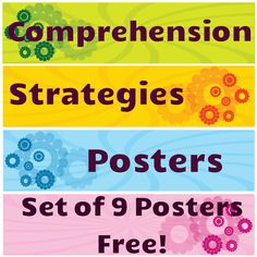 This is is a set of nine colorful posters to teach and review comprehension strategies. Free!