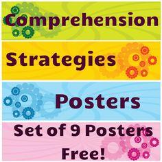 FREE Comprehension Strategies Posters