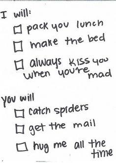 wedding contract.