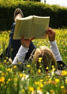 field, yellow flowers, spring flowers, sunny days, reading spot, reading books, read nook, book nook, allergies