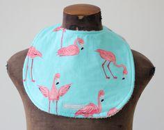 Baby Bib - Flamingos