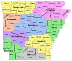Arkansas, county by county