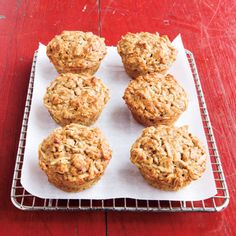 These wholesome Apple-Oat Muffins are great to have around for an on-the-go breakfast. #grains #myplate