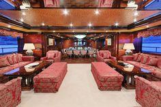 Spacious yacht living room