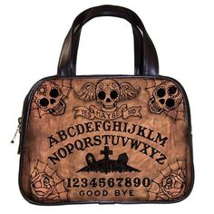 Ouija Board Day Of The Dead Hand Bag Goth, Rockabilly Fashion. WANT.