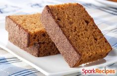 Pumpkin Gingerbread: Why have one flavor when you can have BOTH?! | via @SparkPeople #food #recipe #treat #dessert #holiday #thanksgiving