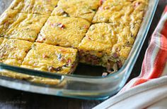 Veggie Ham Egg and Cheese Bake | Skinnytaste