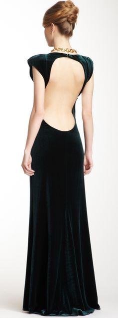 Velvet gown - hemmed shorter