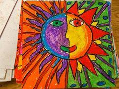 Polka Dot Spot: 4th Grade Square 1 Art- Aztec Suns