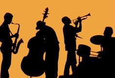 jazz band silhouette - Google Search