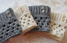 Boot Cuffs Crochet boot cuffs boot socks Boot toppers Boot warmers....choose your color on Etsy, Sold