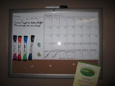 Chore chart for adults. An easy way to split up the chores with out feeling over worked.