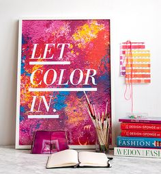 DIY Holi-inspired artwork for your walls! #livewithcolor #holi #diy #artwork #photography