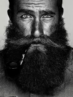 Black and white portrait - great Beard