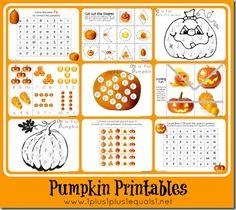 Pumpkin Theme Printables {Tot, Preschool, Kindergarten}