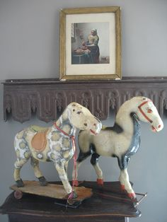antique french horses