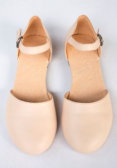 Nude Flat Mary Jane - Women's Shoes - Any Colors - Any Size
