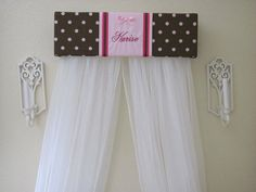 Teester Bed CROWN Canopy Monogrammed Embroidered by SoZoeyBoutique, $49.91