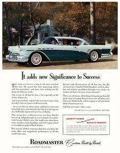 1957 Buick Roadmaster Ad.