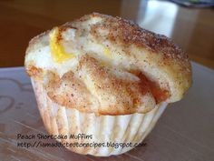 Addicted to Recipes: Peach Shortcake Muffins........for those short people who want cake if ya know what I mean........