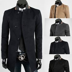 Single Breasted Mens Blazer Design Long Wool Coat | Sneak Outfitters