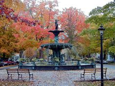 Broadway Fountain in Madison, Indiana.  If I could move to any town in Indiana, Madison would be it.